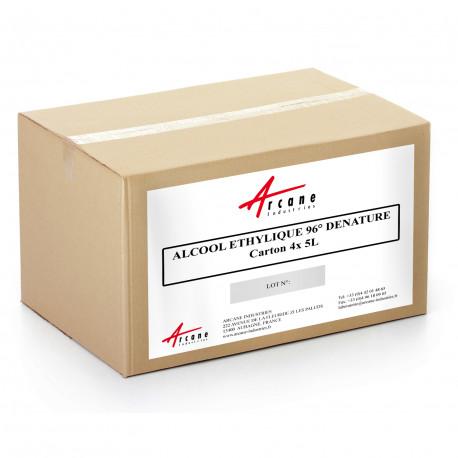 Alcool éthylique éthanol dénaturé 96 % Carton 4x5L