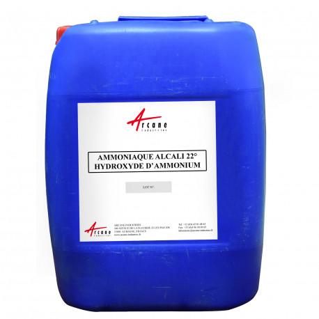 Ammoniaque (ou ammoniac) Alcali 22° - Hydroxyde d'ammonium Bidon 20L