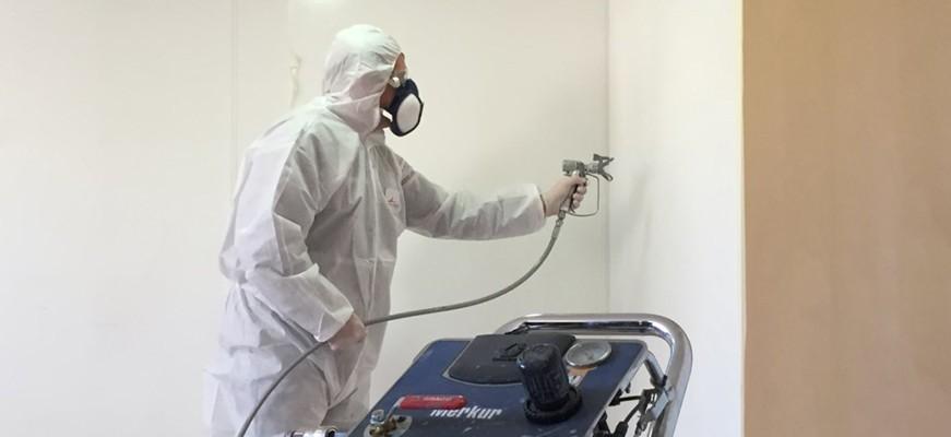 Protection Cabine Peinture Film contre projection ARCASTRIP CABPROTECT